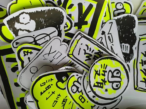 Sticker tapien